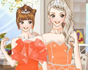 橙色公主礼服